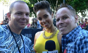 With superstar Alicia Keys