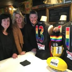 JOY broadcasts from the AFL Pride Game!