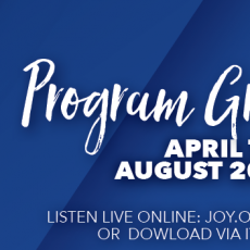 New programs on JOY