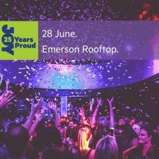 You're Invited to our 25 Years Proud Retro Party