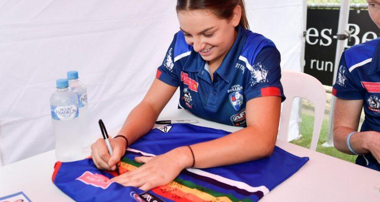 Chicks Talking Footy AFLW Pride Match Raffle – 2018 Bulldogs Premiership Team Guernsey (signed)