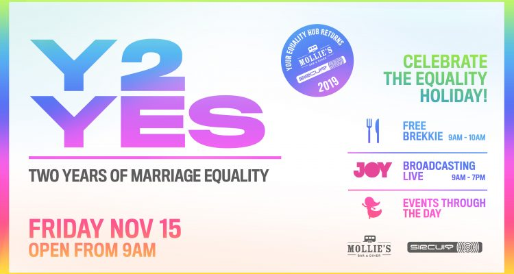 Y2YES two years of marriage equality, come celebrate with us November 15