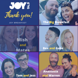 A heartfelt thank you to all our Breakfast presenters!