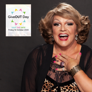 Dolly Diamond, ambassador for GiveOUT Day 2020