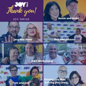 A heartfelt thank you to all our drive show presenters!