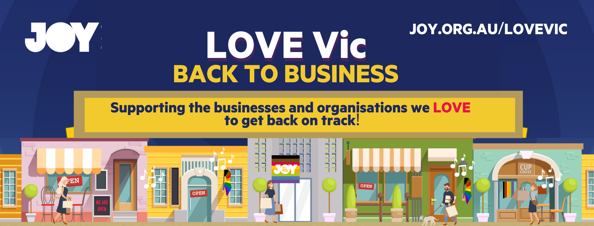 JOY is launching a LOVE Vic Back to Business campaign