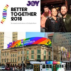 Melbourne 4 Equality, Better Together Conference & LGBTI GLLO Officers out & about : 16th August 2017