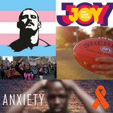 The AFL & Hanna Mouncey, is it fair? Anxiety treatment for people living with HIV & The Laird, from men only to a space for CIS and Trans Men who identify as men : 17th October 2017