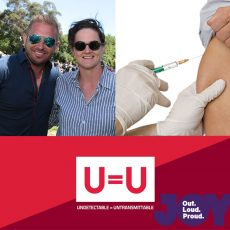 Free vaccinations for Hep A, why are we not understanding U = U & building pathways to queer culture : 22nd January 2017