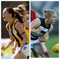 It's footy finals time, interviews with Emma Mackie Hawks Captain and Kate Darby Geelong forward